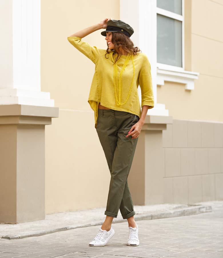 Mixxit Turkey Sarı Bluz